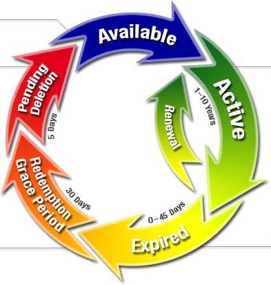 Життєвий цикл доменного імені